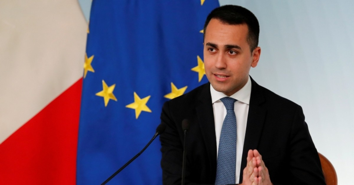 Italian Deputy Prime Minister Luigi di Maio holds a news conference in Rome, Italy, March 8, 2019 (Reuters Photo)