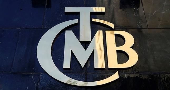 شعار البنك المركزي التركي في مدخل مقر البنك بالعاصمة التركية أنقرة رويترز