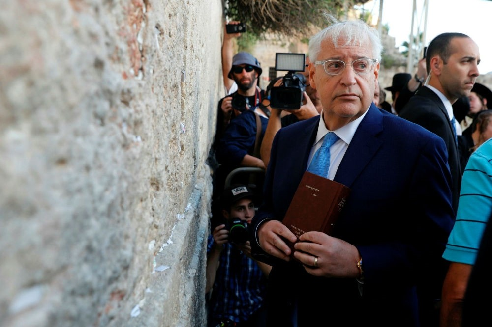 New U.S. ambassador to Israel David Friedman visits the Western Wall in the old city of Jerusalem on May 15.