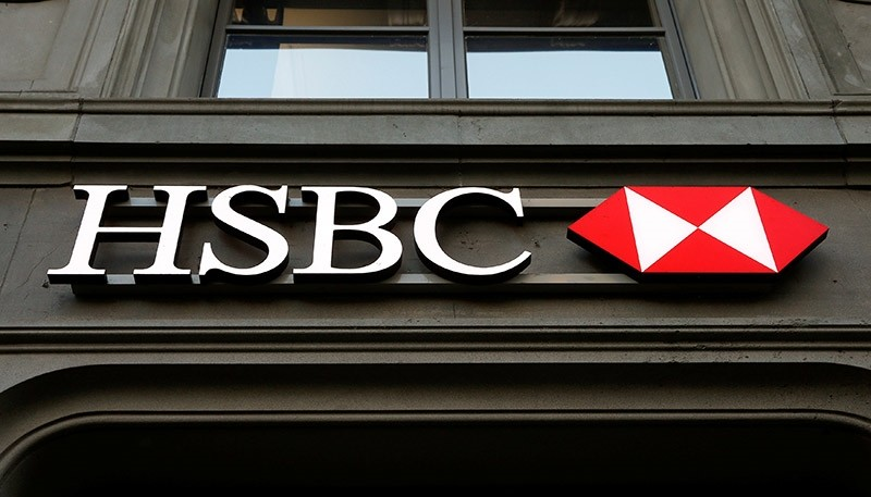 The HSBC bank logo is pictured at a branch office at the Paradeplatz in Zurich February 10, 2015. (Reuters Photo)