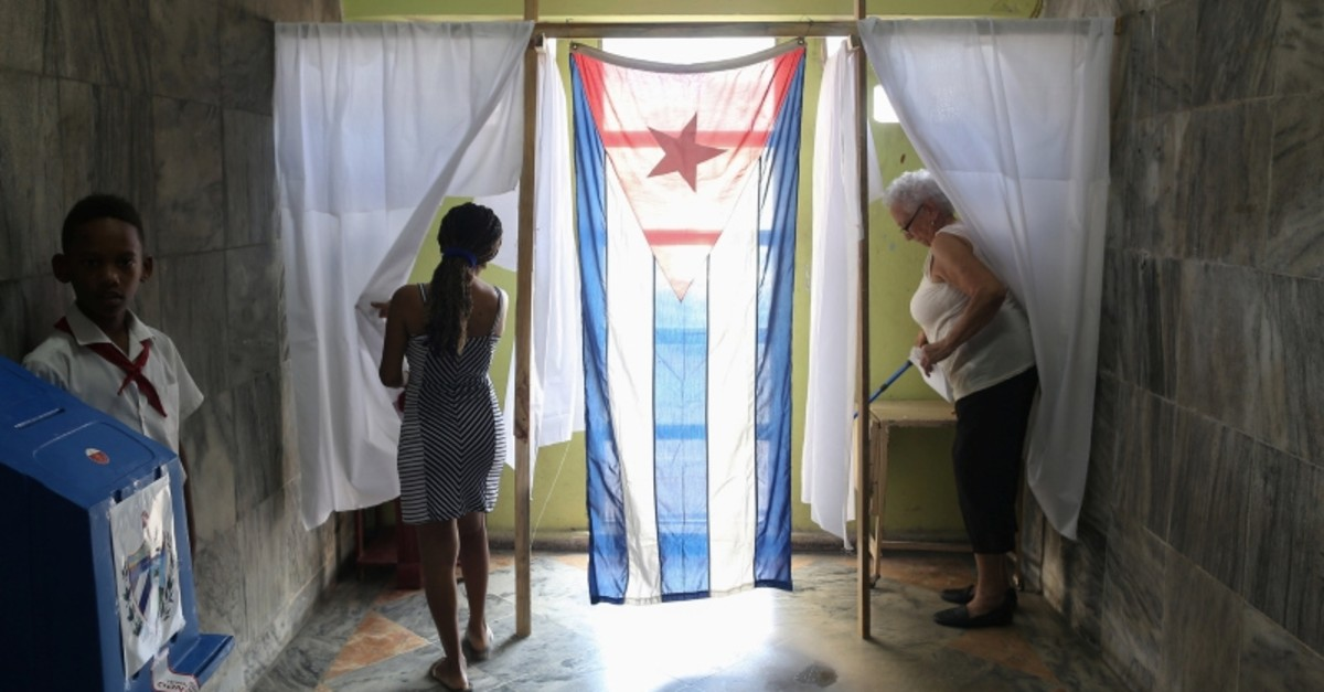Voters cast their votes at a polling station during a constitutional referendum in Havana, Cuba, Feb. 24, 2019. (Reuters Photo)