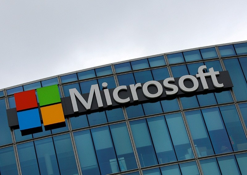 The logo of Microsoft is pictured in Issy-les-Moulineaux, France, August 8, 2016. (Reuters Photo)