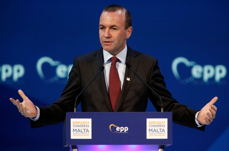 Manfred Weber, chairman of the European People Party (EPP),  takes part in a summit of the party in St Julian's, Malta, March 30, 2017. (Reuters Photo)