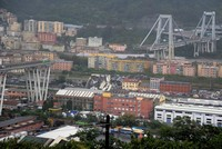 At least 30 killed as motorway bridge collapses in Italy's Genoa