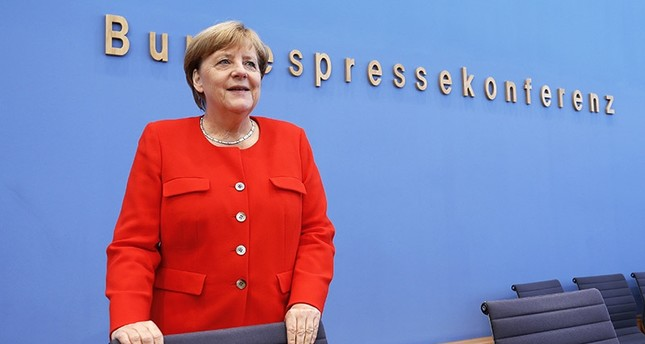 German Chancellor Angela Merkel during her annual press conference at 'Bundespressekonferenz' in Berlin, Germany, 29 August 2017. (EPA Photo)