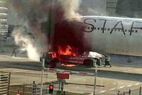 Brand am Frankfurter Flughafen mit sechs Verletzten