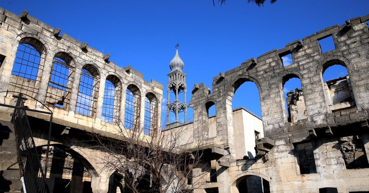The Surp Gragos Church was repaired in the late 1990s but was heavily damaged in PKK attacks.