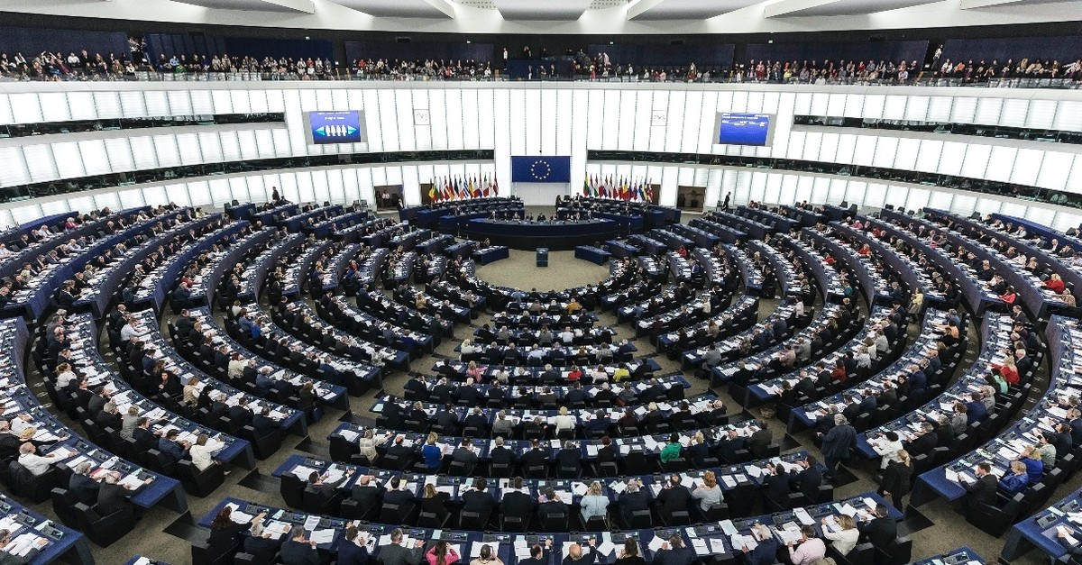 The European Parliament during a plenary session in Strasbourg, eastern France, March 27, 2019.