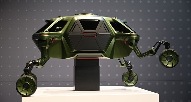 The Hyundai Elevate, an Ultimate Mobility concept vehicle, is displayed during the Hyundai press conference at the Mandalay Bay Convention Center during CES 2019 in Las Vegas, Nevada on January 7, 2019. (AFP Photo)