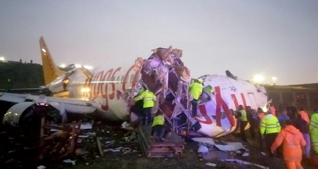 مقتل شخص وإصابة 139 آخرين جراء انحراف طائرة ركاب تركية عن مسارها بإسطنبول
