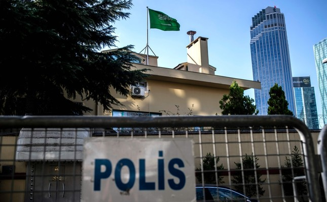 A general view of the Saudi Arabian Consulate in Istanbul on Oct. 7, where Jamal Khashoggi was strangled to death on Oct. 2.