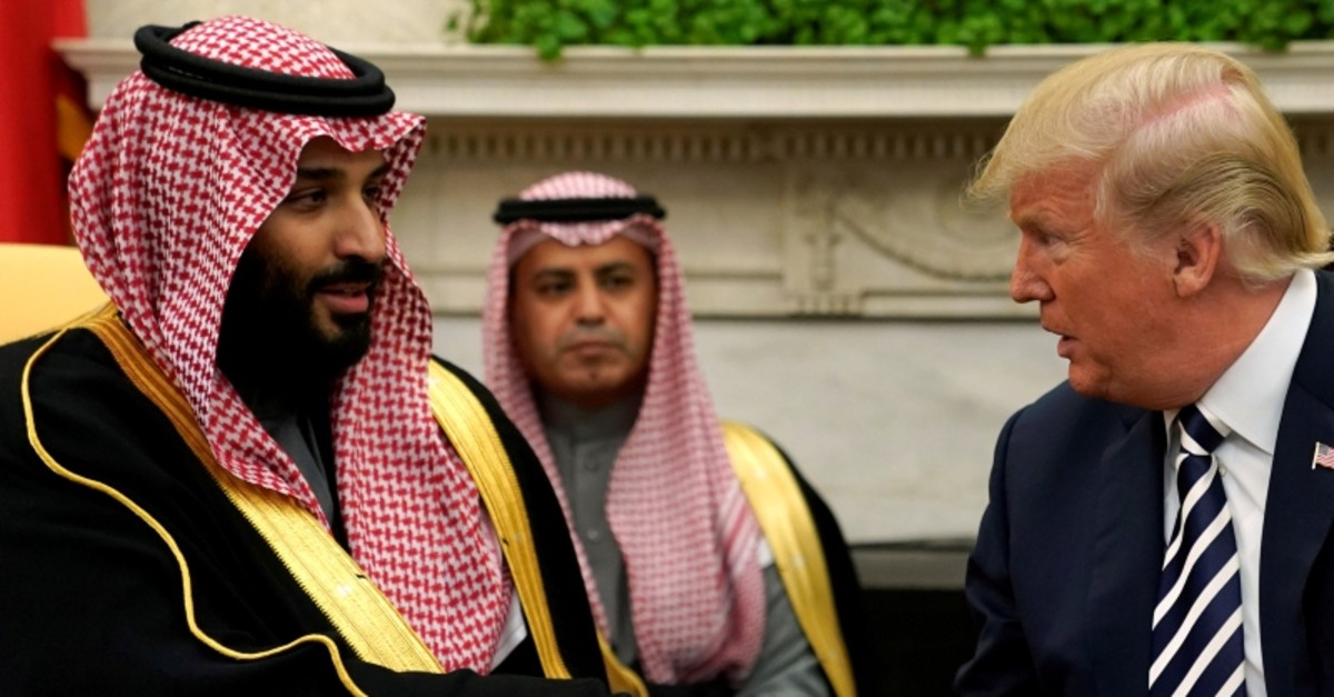U.S. President Donald Trump shakes hands with Saudi Arabia's Crown Prince M. bin Salman in the Oval Office at the White House in Washington, U.S. March 20, 2018. (Reuters File Photo)