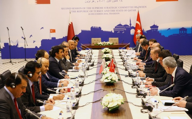 Presided over by President Erdoğan and Qatar Emir Sheikh Tamim bin Hamad al-Thani, the 2nd Turkey-Qatar Supreme Strategic Committee Meeting was held Sunday.