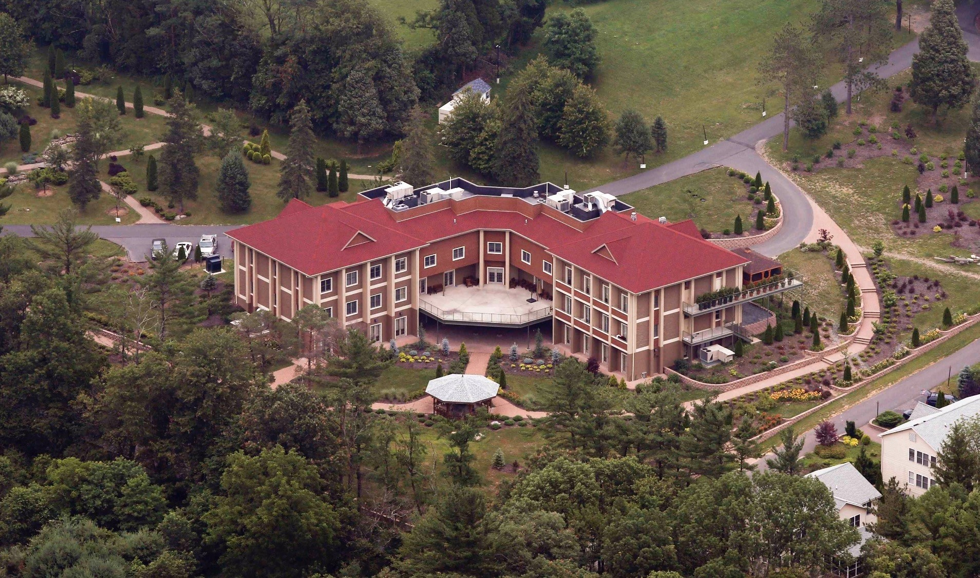 An aerial view of the mansion that self-exiled Fetullah Gu00fclen, the leader of secretive terrorist group FETu00d6, and his followers reside in, Pennsylvania, U.S., July 9, 2013.