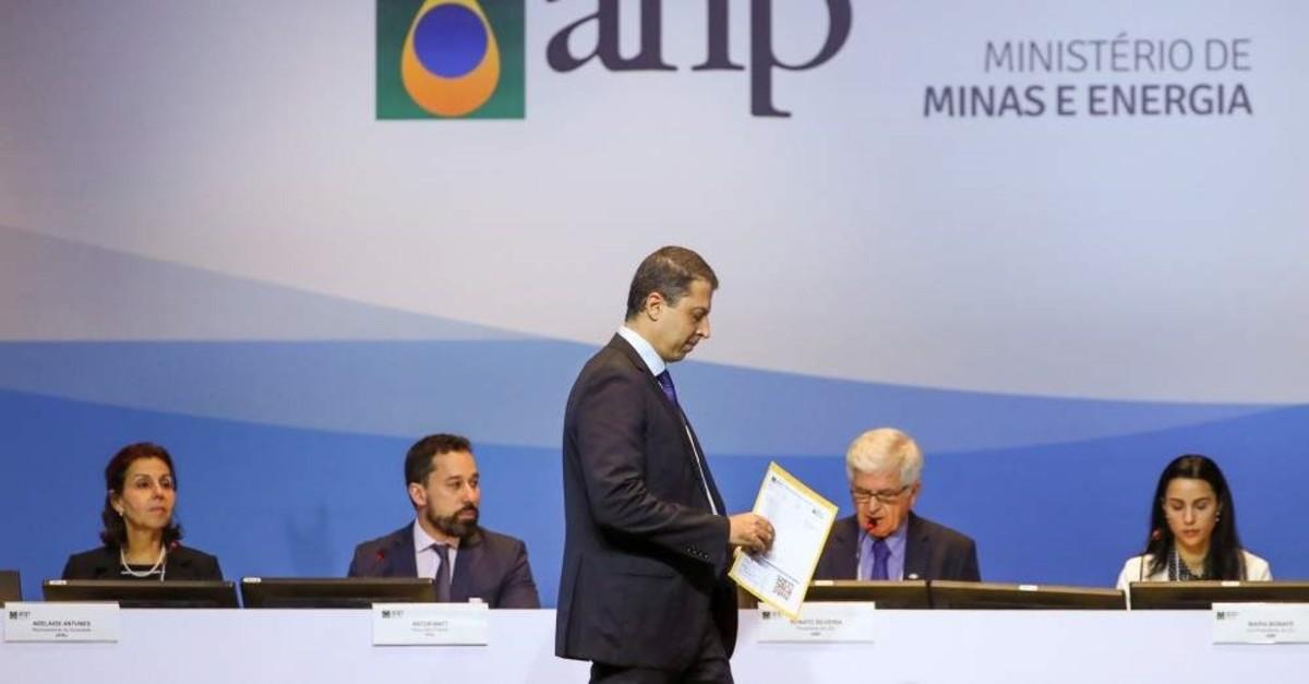 A representative of Petroleo Brasileiro S.A. attends the Brazil's government's auction for offshore oil fields, in Rio de Janeiro, Brazil, November 6, 2019. (REUTERS Photo)