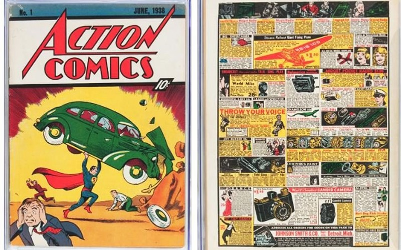 This image released by Profiles in History shows a June 1938 Action Comics #1 issue, one of many Superman items up for auction on Dec. 19 in Los Angeles ( File Photo)