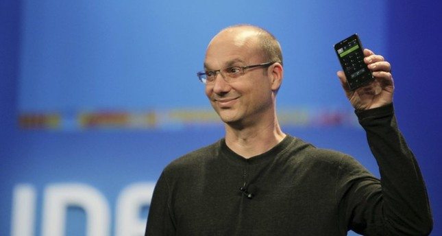 In this Nov. 1, 2014 file photo, then-Google executive behind the leading mobile device software Android, Andy Rubin, is seen in a presentation.