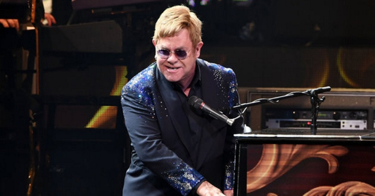 Elton John performs ,The Million Dollar Piano, at The Colosseum at Caesars Palace in Las Vegas on New Year's Eve December 31, 2016 in Las Vegas, Nevada. (SABAH FILE Photo/WireImage)