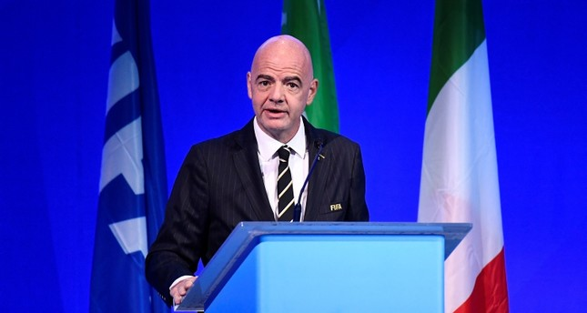 FIFA President Gianni Infantino during the conference in Milan, Italy, Sept. 22, 2019. Reuters Photo