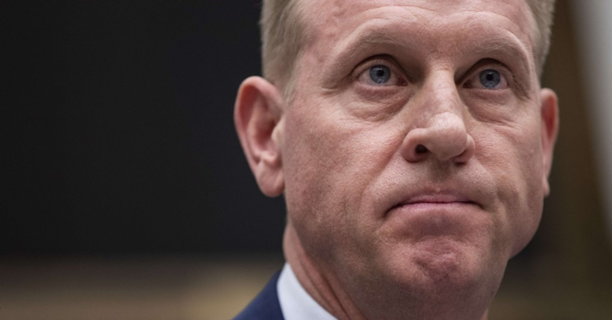 Acting Secretary of Defense Patrick Shanahan testifies during a House Armed Services Committee hearing regarding the fiscal year 2020 National Defense Authorization Budget Request from the Department of Defense, March 26, 2019 in Washington, DC.
