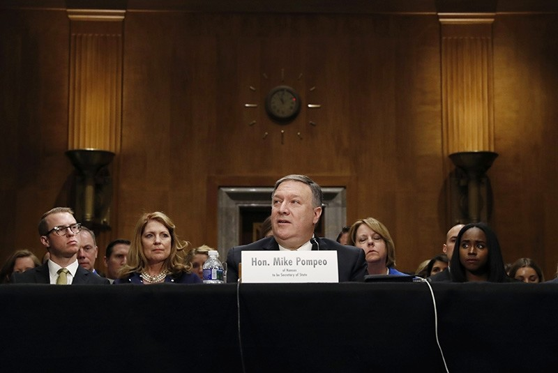 CIA Director Mike Pompeo testifies before a Senate Foreign Relations Committee confirmation hearing on Pompeou2019s nomination to be secretary of state on Capitol Hill in Washington, U.S., April 12, 2018. (Reuters Photo)
