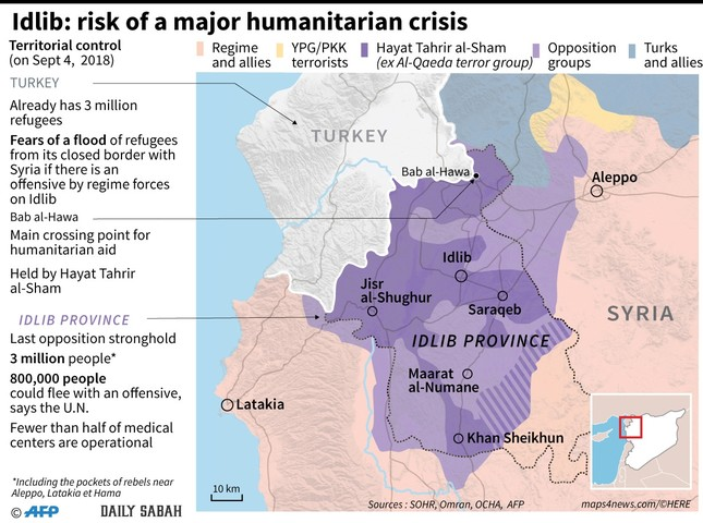 Syria's Idlib on brink of humanitarian crisis as Tehran summit set to seal its fate