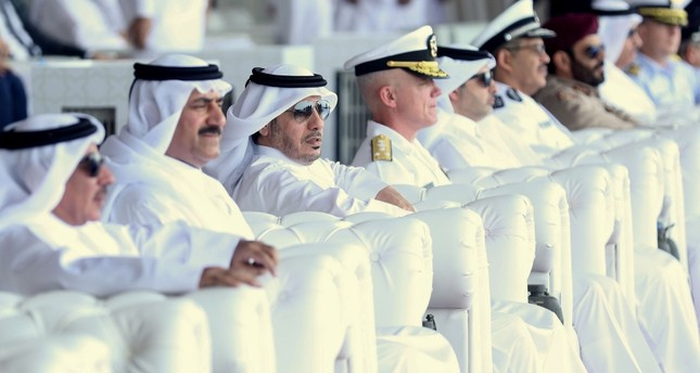 Qatari Prime Minister Abdullah bin Nasser bin Khalifa al-Thani attends the inauguration ceremony of the new building of the General Directorate of Coasts and Borders Security, in northern Qatar on July 14, 2019. (AFP Photo)