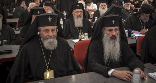 Orthodox bishops at the closing session of the Holy and Great Council.