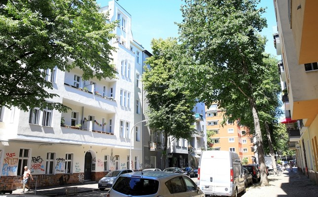 The building where Adil Öksüz was spotted in Berlin's Neukoelln district. AA Photo