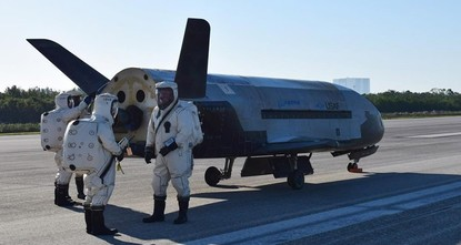 pThe U.S. military's experimental X-37B space plane landed on Sunday at NASA's Kennedy Space Center in Florida, completing a classified mission that lasted nearly two years, the Air Force...