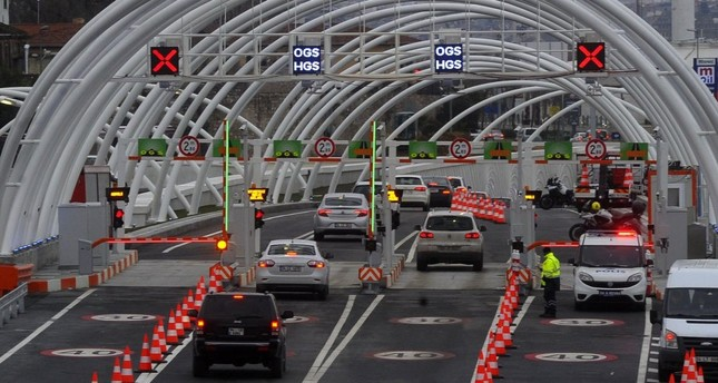 Turkey earns over $124 million in bridge, highway tolls