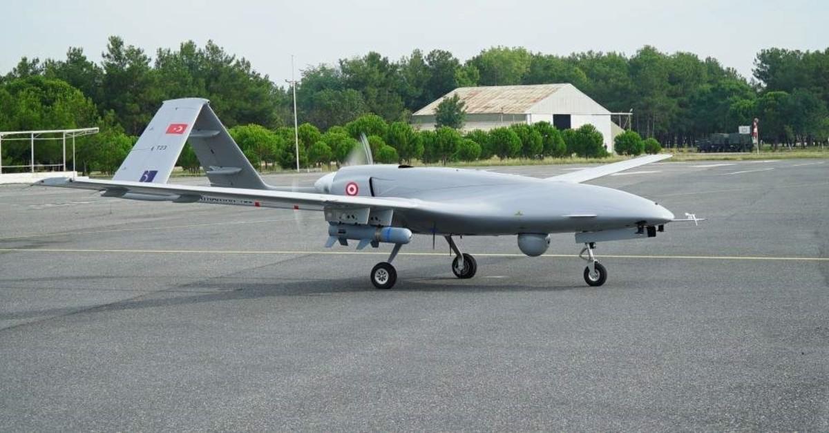 Turkey's Baykar Makina exported 12 Bayraktar TB2 unmanned aerial vehicles to Ukraine in 2019. (AA Photo)