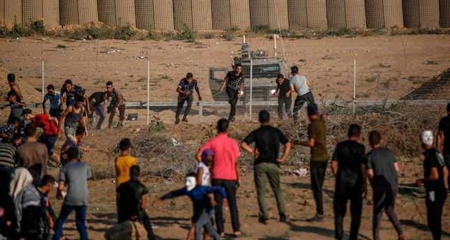 إصابة 70 متظاهرا فلسطينيا برصاص الجيش الإسرائيلي شرقي قطاع غزة
