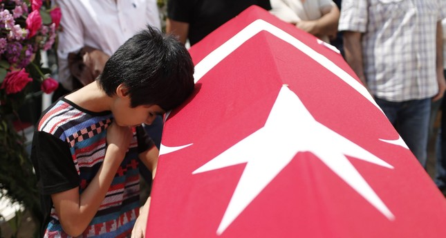 Relatives of Habibullah Sefer, who was killed in the attacks at Ataturk Airport on 28 June, mourn during a funeral in Istanbul, Turkey, 30 June 2016. EPA Photo