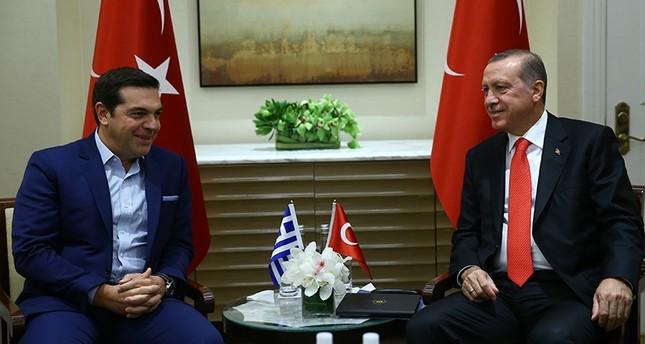 أردوغان يستقبل رئيس وزراء اليونان على هامش اجتماعات الجمعية العامة