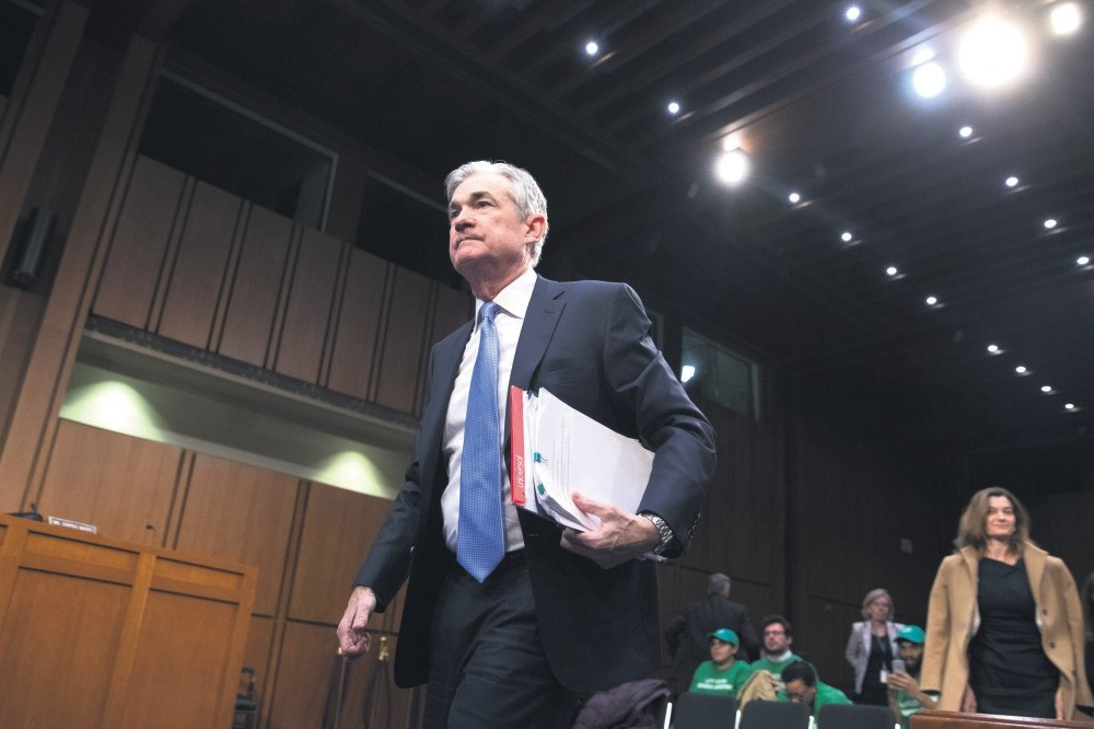 Jerome Powell leaves after testifying at the Senate Banking, Housing and Urban Affairs Committee hearing on his nomination to be chair of the Federal Reserve Board of Governors, on Capitol Hill, Washington, Nov. 28.
