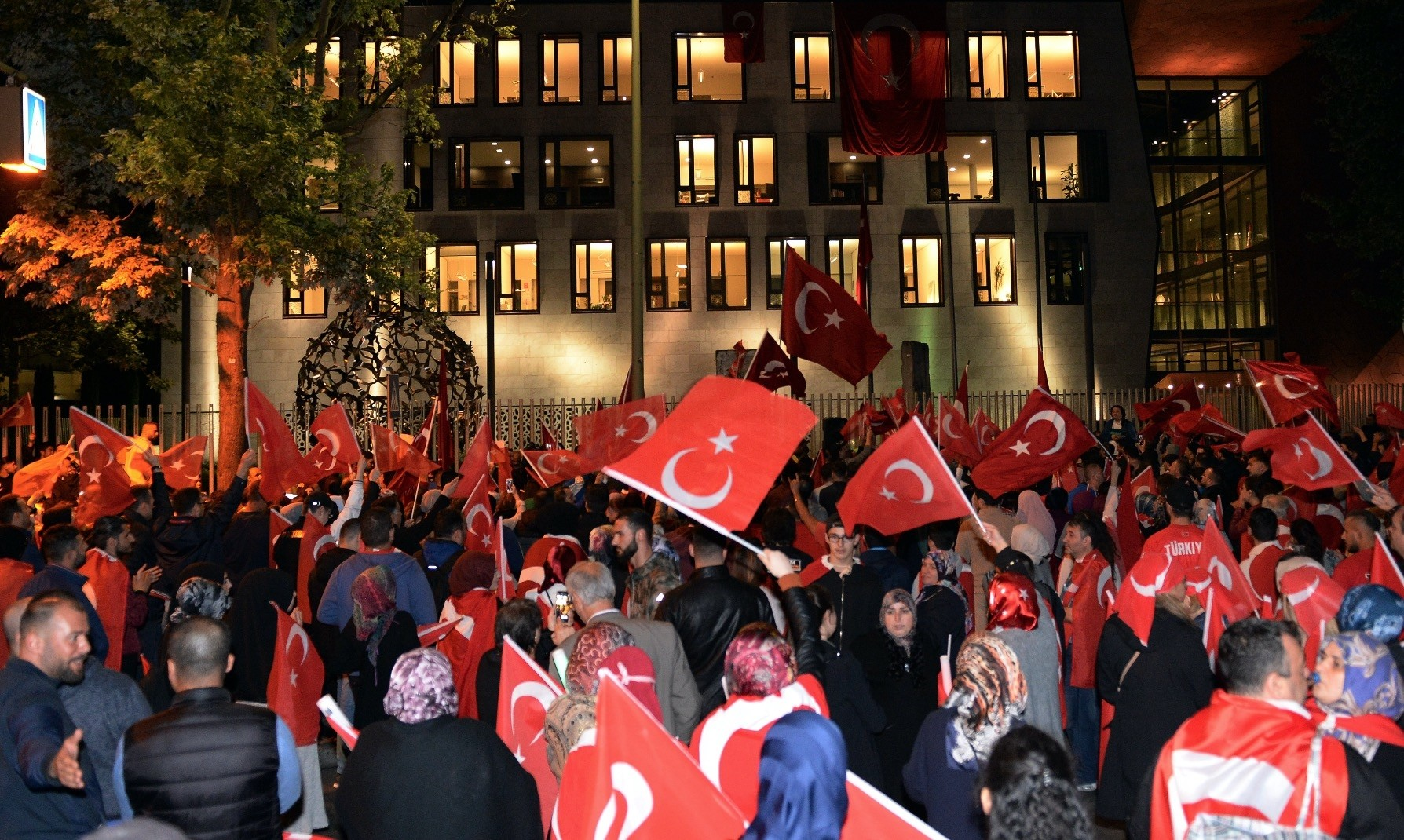 Turks stage a rally in Berlin on the first anniversary of the 2016 coup attempt. FETu00d6 is accused of using its infiltrators in the military for the attempt that killed 250 people.