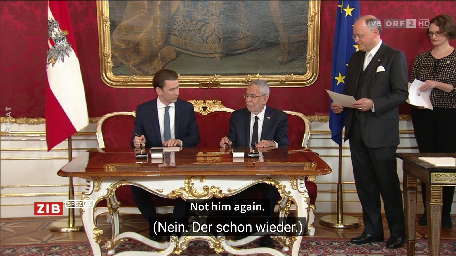 Subtitles mix-up turns Austrian cabinet inauguration into soap opera