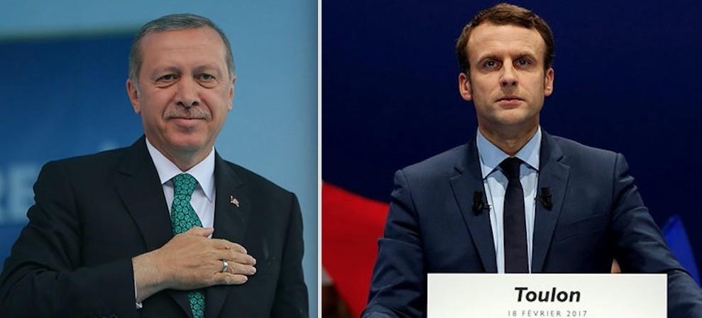 Erdou011fan (L) and Macron