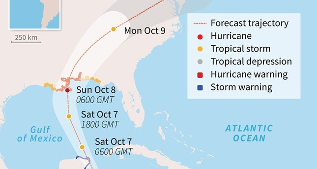 Nate becomes Category 1 hurricane, heads for popular Mexican beach resorts