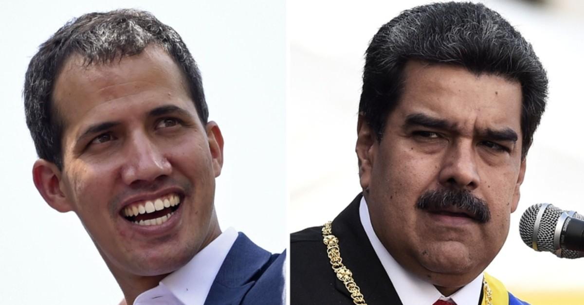 Venezuelan opposition leader Juan Guaido (L) and President Nicolas Maduro (R). (AFP Photo)