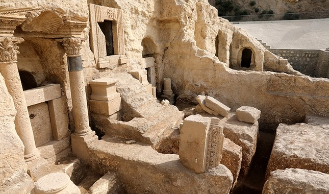 2,000-year-old rock tombs discovered in Turkey's southern Şanlıurfa province will open to visitors. (AA Photo)