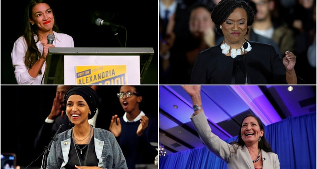 From top left, clockwise: Alexandria Ocasio-Cortez, Ayanna Pressley, Deb Haaland and Ilhan Omar. (REUTERS/EPA Photos)