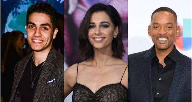 L-R: Massoud, Scott and Smith are set to star in the new live-action remake of Aladdin. (AFP and AP Photos)