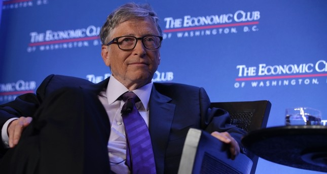 Microsoft principle founder Bill Gates participates in a discussion during a luncheon of the Economic Club of Washington June 24, 2019 in Washington, DC. (AFP Photo)