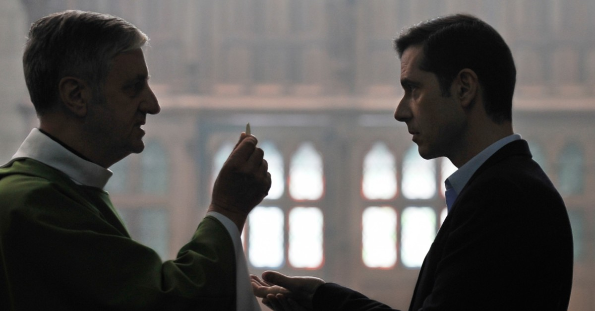 Melvil Poupaud (R) in the role of Alexandre strives to stop child abuse in the French church.