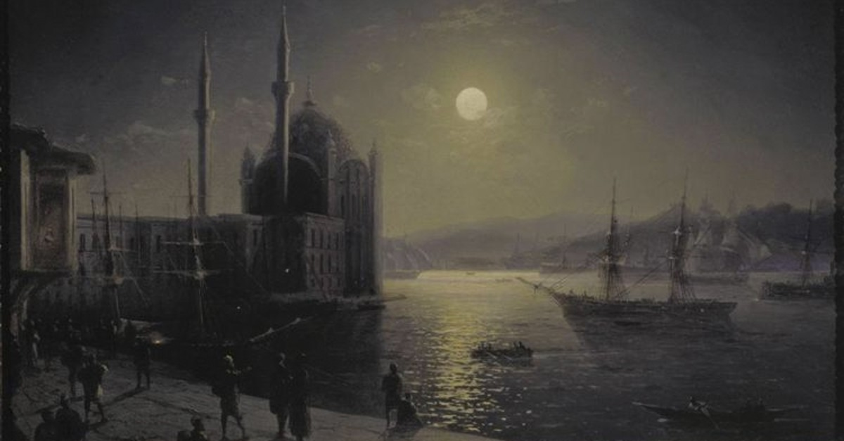 u201cClair de lune. Bosphoreu201d (1894) by Ivan Aivasovsky, oil on canvas, courtesy of Tretiakov Gallery in Moscow.