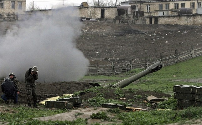 Armenian artillery position in Karabakh. April 2016. (EPA file photo)