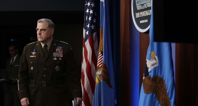 وزير الدفاع الأمريكي قبيل مؤتمر صحفي حول تطورات الانسحاب من أفغانستان الفرنسية