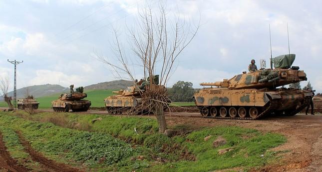 الجيش التركي يتقدم في عفرين. الأناضول